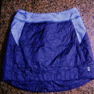 North Face Skirt cute Quilted deep blue M